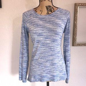 Hampton Blue and White Sweatshirt Size Small